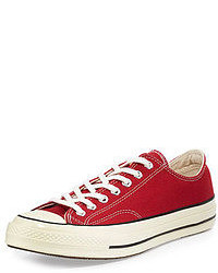 Baskets basses rouges