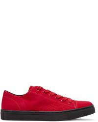Baskets basses rouges Yohji Yamamoto