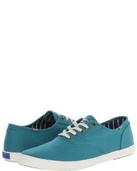 Baskets basses turquoise