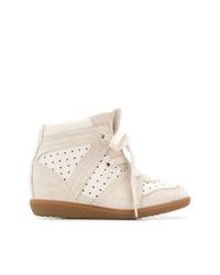 Baskets compensées beiges Isabel Marant