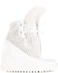 Baskets compensées en cuir blanches Vivienne Westwood