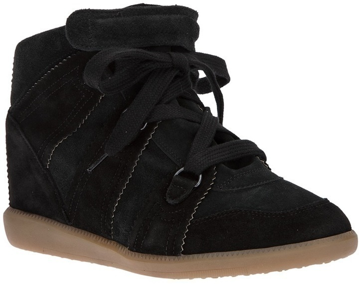 Baskets compensées noires Isabel Marant