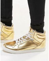 Baskets dorées Asos
