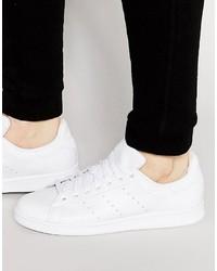 Baskets en cuir blanches adidas