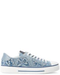 Baskets en cuir bleues claires Valentino Garavani