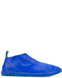 Baskets en cuir bleues Marsèll