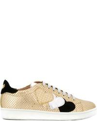 Baskets en cuir dorées Twin-Set
