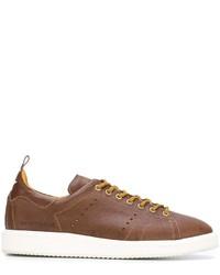 Baskets en cuir marron Golden Goose Deluxe Brand