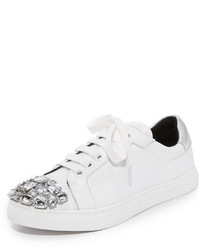 Baskets en cuir ornées blanches Rebecca Minkoff