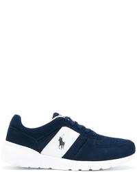 Baskets en daim bleues marine Polo Ralph Lauren