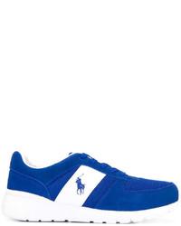 Baskets en daim bleues Polo Ralph Lauren