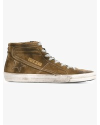 Baskets en daim marron Golden Goose Deluxe Brand