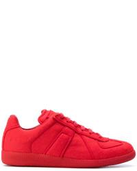 Baskets géométriques rouges Maison Margiela