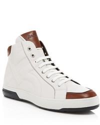Baskets montantes blanches et brunes original 3811194