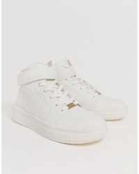 Baskets montantes blanches Bershka