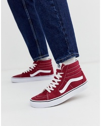 Baskets montantes bordeaux Vans