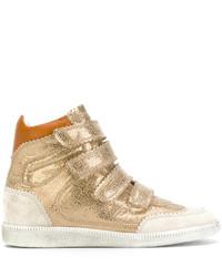 Baskets montantes dorées Isabel Marant