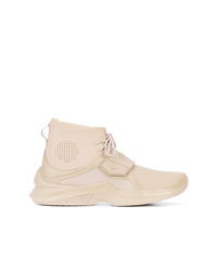 Baskets montantes en cuir beiges Fenty X Puma