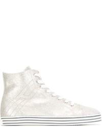 Baskets montantes en cuir blanches Hogan