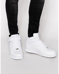 Baskets montantes en cuir blanches Nike