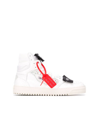 Baskets montantes en cuir blanches Off-White
