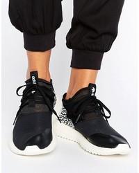 Baskets montantes en cuir noires adidas
