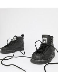 Baskets montantes en cuir noires adidas Originals