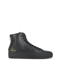 Baskets montantes en cuir noires Common Projects