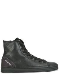 Baskets montantes en cuir noires Hogan