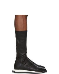 Baskets montantes en cuir noires Rick Owens