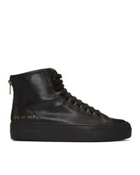 Baskets montantes en cuir noires Woman by Common Projects