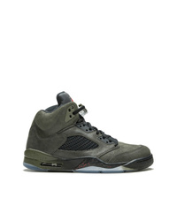 Baskets montantes en cuir olive Jordan