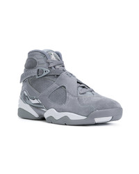 Baskets montantes en daim grises Nike