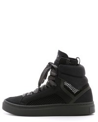 Baskets montantes en daim noires adidas by Stella McCartney