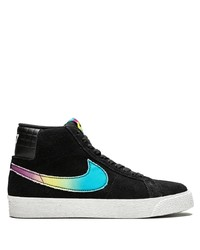 Baskets montantes en daim noires Nike