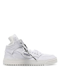 Baskets montantes en toile blanches Off-White
