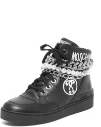 Baskets montantes noires Moschino
