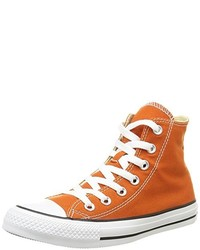 Baskets montantes orange Converse