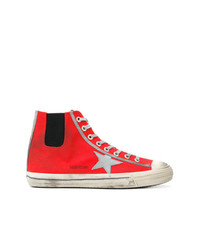 Baskets montantes rouges Golden Goose Deluxe Brand