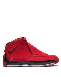 Baskets montantes rouges Jordan