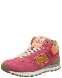 Baskets montantes rouges New Balance