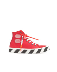 Baskets montantes rouges Off-White