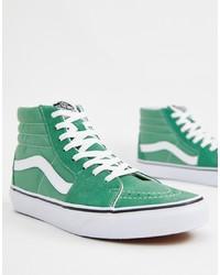 Baskets montantes vert menthe Vans
