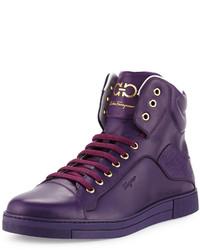 Baskets montantes violettes