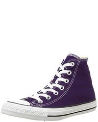 Baskets montantes violettes Converse