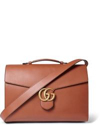 Besace en cuir brune Gucci