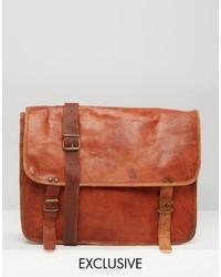 Besace en cuir brune Reclaimed Vintage