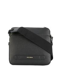 Besace en cuir noire Dolce & Gabbana