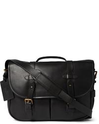 Besace en cuir noire Polo Ralph Lauren