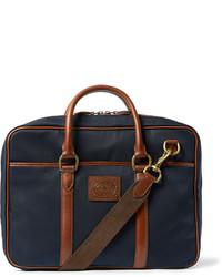 Besace en toile bleue marine Polo Ralph Lauren